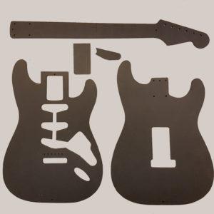 Fräsmallar, gitarrer